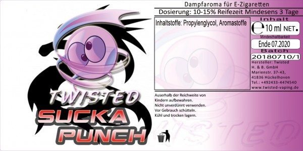 Twisted Aroma Sucka Punch 10ml