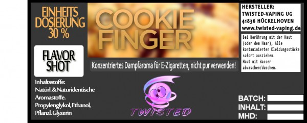 Twisted Aroma Cookie Finger FlavorShot