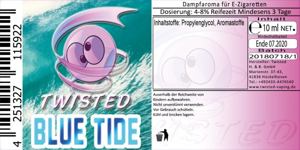 Twisted Aroma Bluetide 10ml
