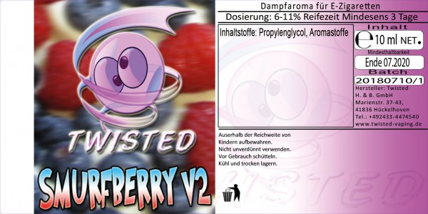 Twisted Aroma Smurfberry V2 10ml