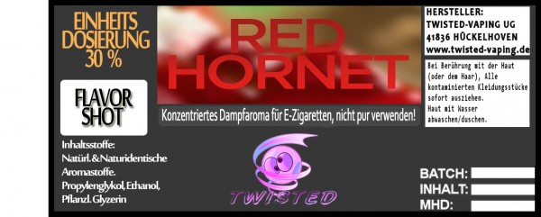 Twisted Aroma Red Hornet FlavorShot