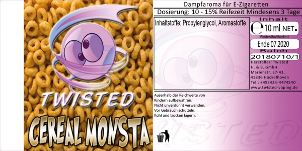 Twisted Aroma Cereal Monsta 10ml