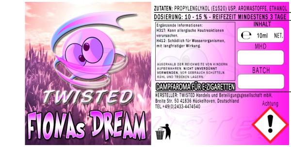Twisted Aroma Fionas Dream 10ml