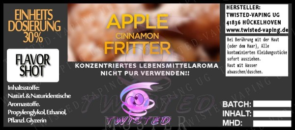Twisted Aroma Apple Cinnamon Fritter FlavorShot