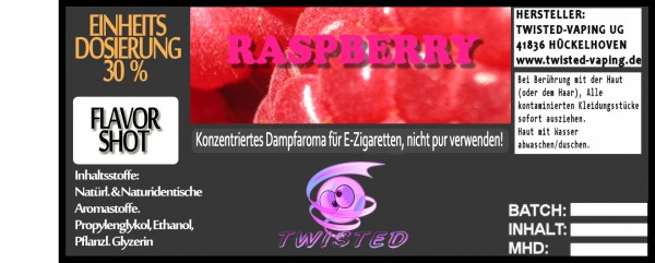 Twisted Aroma Raspberry FlavorShot