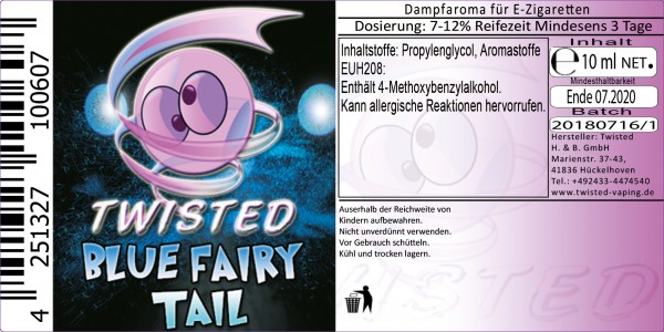 Twisted Aroma Blue Fairy Tail 10ml