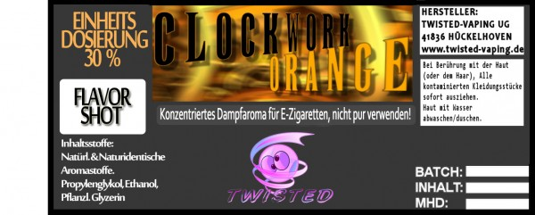 Twisted Aroma Clockwork Orange FlavorShot