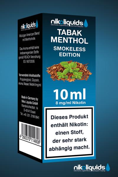 Smokeless Tabak Menthol 10ml