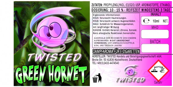 Twisted Aroma Green Hornet 10 ml