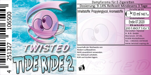 Twisted Aroma Tide Ride 2 10ml