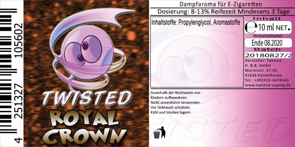 Twisted Aroma Royal Crown 10ml