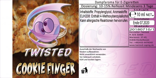 Twisted Aroma Cookie Finger 10ml