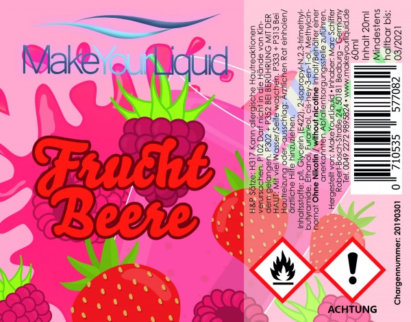 Make Your Liquid Fruchtbeere Shake ´n Vape 20ml
