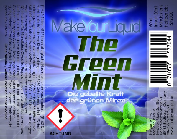 Make Your Liquid The Green Mint Shake ´n Vape 20ml