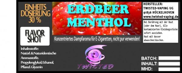 Twisted Aroma Erdbeer Menthol FlavorShot