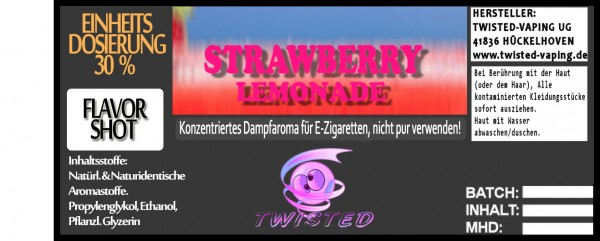 Twisted Aroma Strawberry Lemonade FlavorShot