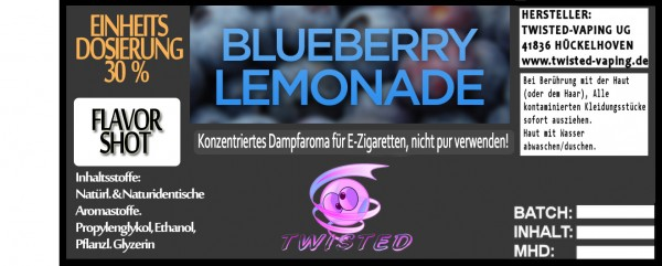Twisted Aroma Blueberry Lemonade FlavorShot